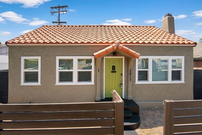 San Diego Single Family Home For Sale: 3417 Meade Ave