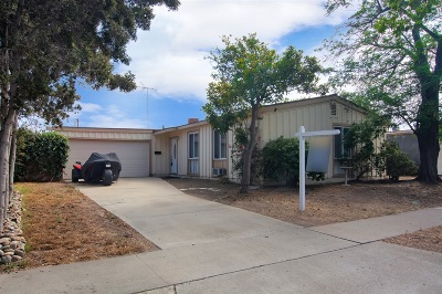 Clairemont, Clairemont Mesa, Clairemont Mesa East, Clairemont Unit 16, Clairmont Single Family Home For Sale: 4773 Aberdeen