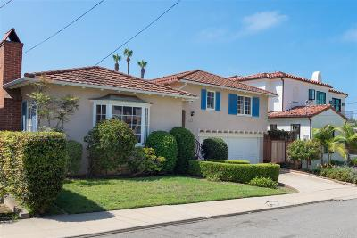 La Jolla Single Family Home For Sale: 621 Arenas Street