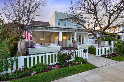 Coronado Single Family Home For Sale: 854 A Avenue