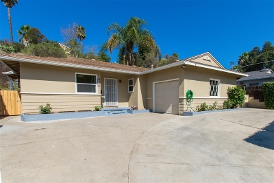 La Mesa Single Family Home For Sale: 5826 Nagel St
