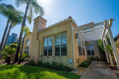 Pacific Beach, Mission Beach Townhouse For Sale: 1461 Chalcedony St