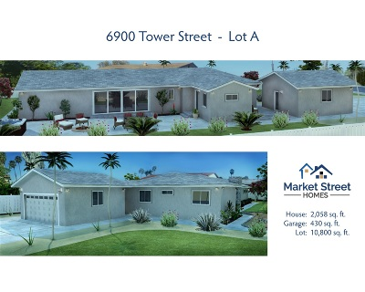 La Mesa Single Family Home For Sale: 6900 Tower Street