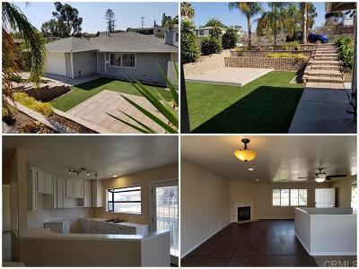 San Diego Single Family Home For Sale: 5437 Churchward St