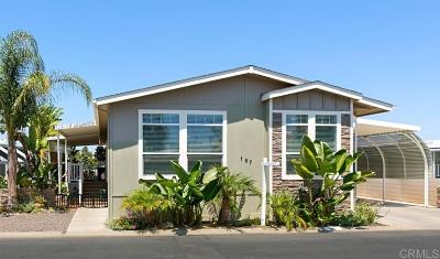 Oceanside CA Mobile/Manufactured For Sale: $275,000