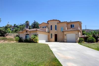 el cajon Single Family Home For Sale: 681 Sandra Ln