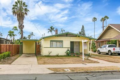San Diego Single Family Home For Sale: 3610 Utah Street