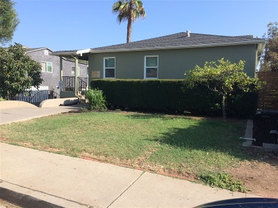 San Diego Multi Family 2-4 For Sale: Mohawk St