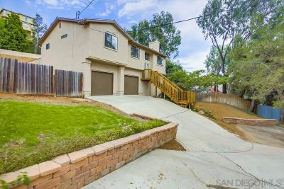 La Mesa Single Family Home For Sale: Massachusetts Ave