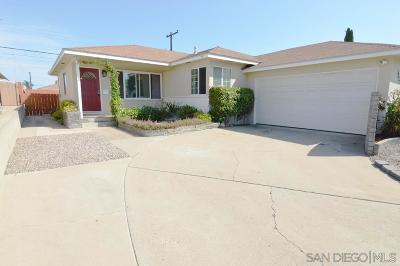 San Diego Single Family Home For Sale: 6631 Birchwood St