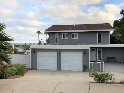 Oceanside Single Family Home For Sale: 1419 Hunsaker