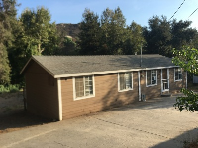 San Diego County Single Family Home For Sale: 828 Harbison Canyon Rd