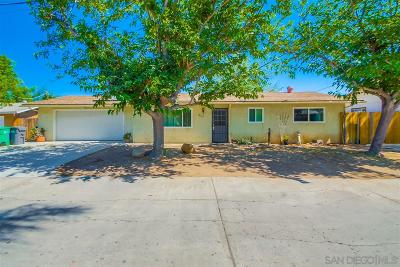 Santee Single Family Home For Sale: 10350 El Toro Ln