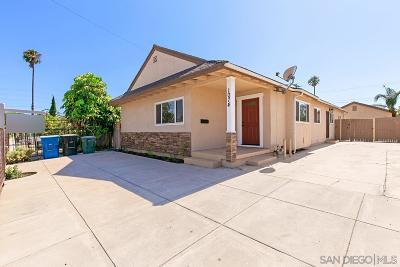 Chula Vista Single Family Home For Sale: 1074 Madison Avenue