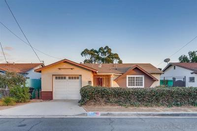 San Diego Single Family Home Contingent: 5741 Calle Felicidad