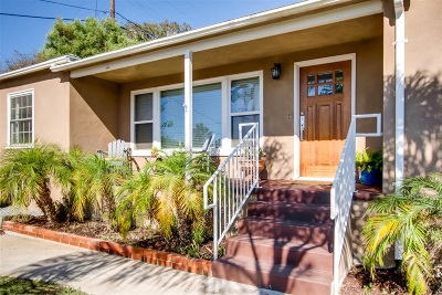 Chula Vista Single Family Home For Sale: 53 3rd