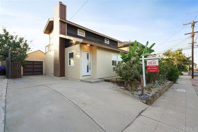 Ocean Beach, Ocean Beach/Point Loma, Ocean Obeach Single Family Home For Sale: 1760 Guizot St