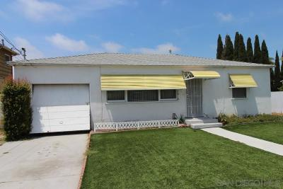 San Diego Single Family Home For Sale: 1616 Pacific Beach Dr