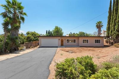 Escondido Single Family Home For Sale: 1801 Country Ln