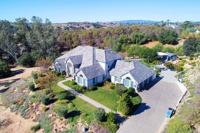 Fallbrook Single Family Home For Sale: 2854 Los Alisos Dr