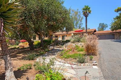 Escondido CA Single Family Home For Sale: $875,000