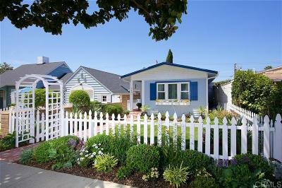Coronado Single Family Home For Sale: 140 F Ave