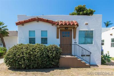 San Diego Single Family Home For Sale: 4781 Niagara Avenue
