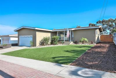 San Diego Single Family Home For Sale: 5821 Duluth Ave.