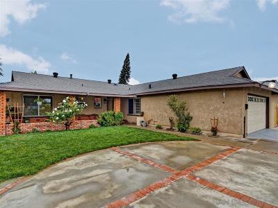 San Diego Single Family Home For Sale: 2840 Caulfield Dr