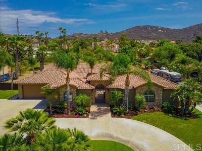 el cajon Single Family Home For Sale: 3535 Par Four Drive