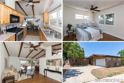 San Diego Single Family Home For Sale: 6612 Cartwright St