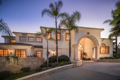 Rancho Santa Fe Single Family Home For Sale: 6105 Avenida Alteras