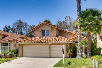 Escondido Single Family Home For Sale: 2191 Pleasantwood Ln