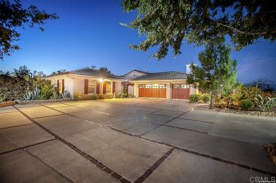 Valley Center Single Family Home For Sale: 27245 Tumbleweed Trail