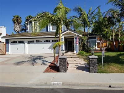 Oceanside Single Family Home For Sale: 5013 Chalet Dr.