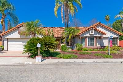 Escondido Single Family Home For Sale: 1723 Casero Pl