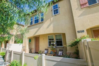 Chula Vista Townhouse For Sale: 1558 San Javier Ct. #2