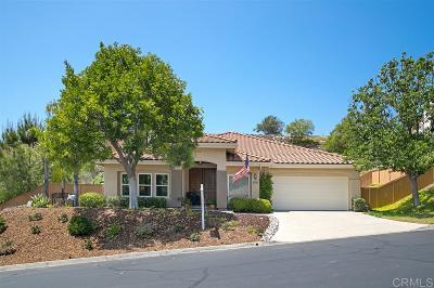 San Diego County Single Family Home For Sale: 1658 Monarch Ridge Circle