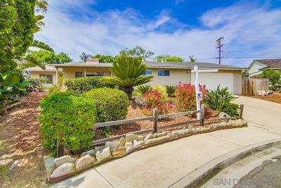 San Diego Single Family Home For Sale: 1475 Liggett Way