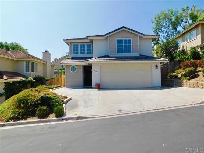 Escondido Single Family Home For Sale: 2177 Gibraltar Glen