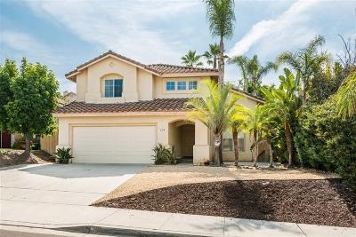 San Marcos Single Family Home For Sale: 773 Via Bahia