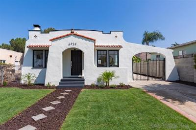 San Diego Multi Family 2-4 For Sale: 6934-6938 Mohawk