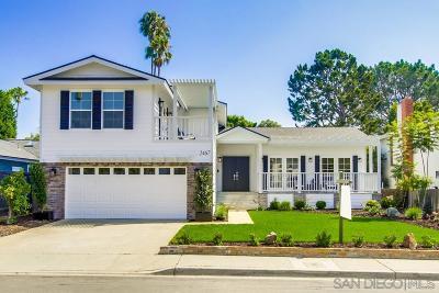 Del Mar Single Family Home For Sale: 2467 Vantage Way