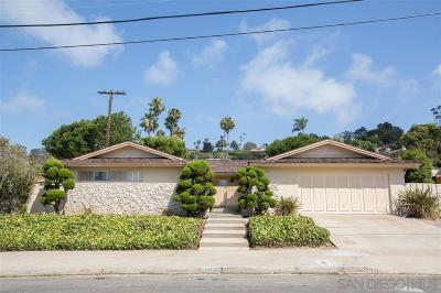 La Jolla Single Family Home For Sale: 6575 Avenida Manana