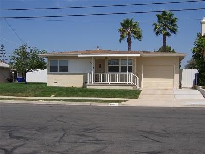 Clairemont, Clairemont Mesa, Clairemont Mesa East, Clairemont Unit 16, Clairmont Single Family Home For Sale: 4486 Ute Dr