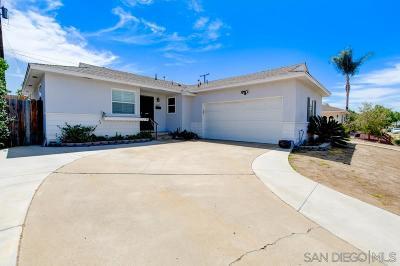 San Diego Single Family Home For Sale: 6431 Birchwood St