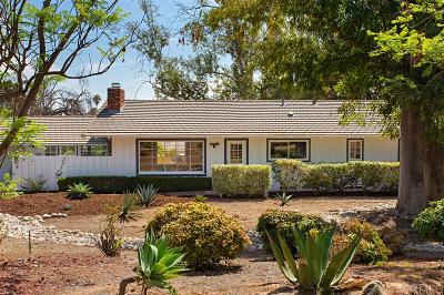 Escondido Single Family Home For Sale: 1936 Rohn Road