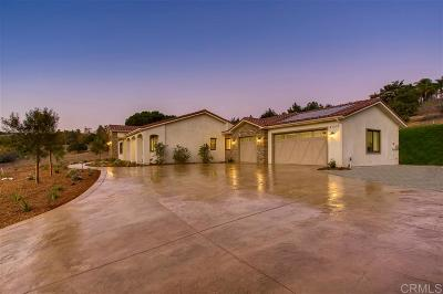Fallbrook Single Family Home For Sale: 4380 Ramona Dr