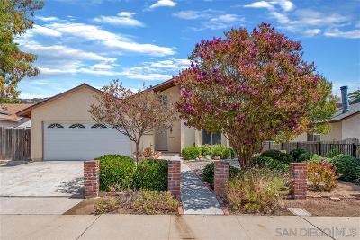 Poway Single Family Home For Sale: 15125 Hesta Street