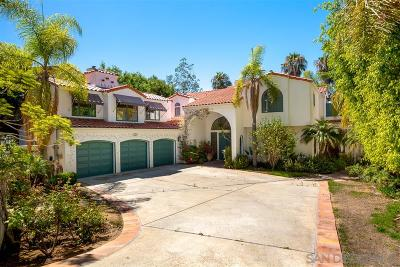 La Jolla Single Family Home Contingent: 1540 Soledad Ave